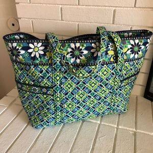 VERA BRADLEY DAISY DAISY Large Tote Shoulder Bag